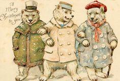 #bears #greeting #Christmas #holiday #bizitalk #scrapbook #mixedmedia