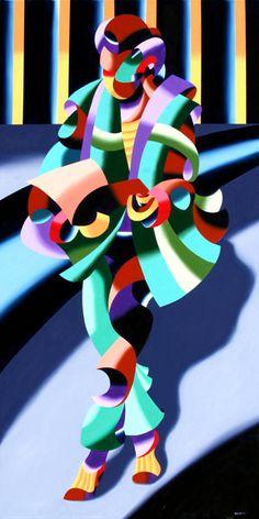 "Mark Webster Artist - Modern Woman in Tokyo - 48x24"" Oil on Canvas."