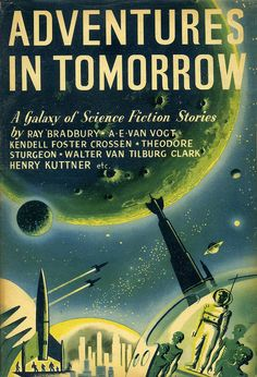 LEY KENYON - art for Adventures in Tomorrow edited by Kendall Foster Crossen - 1953 The Bodley Head hardcover