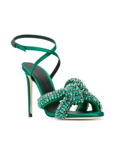 9e529626dc1644 Marco De Vincenzo Embellished Knot Sandals - Farfetch