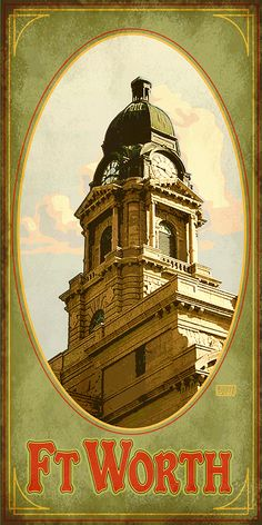 Tour architectural gems in Texas. Find fun souvenirs at www.etsy.com/shop/texasposter