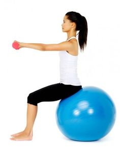 exercise balls are so easy to use...and fun