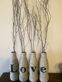 A personal favorite from my Etsy shop https://www.etsy.com/listing/265696855/upcycled-hemp-wrapped-coke-bottles