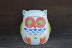 Whooo Loves Owls  Large Modern Ceramic Owl Cookie Jar  by InAGlaze, $72.00