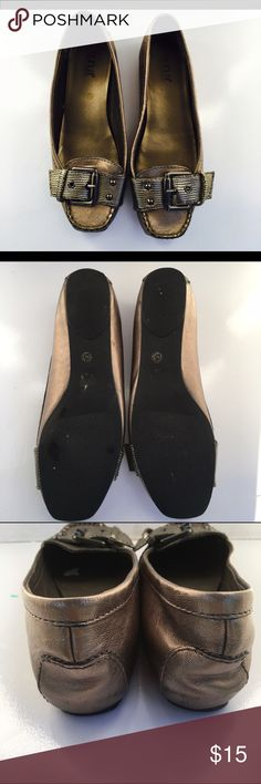 New a.n.a Gold flats. New. Sz 7.5 Shoes Flats & Loafers