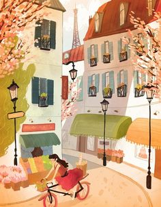 Spring in Paris by Natalie Andrewson