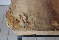 Steel & Spalted Maple Coffee Table - Sticks & Bricks