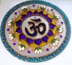 Espelho OM Flor de Lótus Espiritualidade