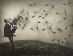 """Robert and Shana Parkeharrison's artistic statement: """"We create works in response to the ever-bleakening relationship linking humans, technology, and nature. These works feature an ambiguous narrative that offers insight into the dilemma posed by science and technology's failed promise to fix..."""