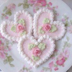 Pretty cookies on a pretty plate