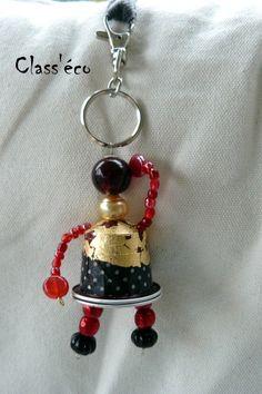 porte clé fait avec des capsules café