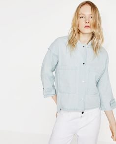 Image 2 of DENIM STYLE JACKET from Zara
