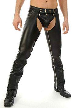 Enjoy exclusive for WINTEX Men's Real Leather Chaps Detachable Codpiece Bikers Leather Chaps online - Topfashionoutfits Leather Corset, Biker Leather, Leather Men, Leather Pants, Real Leather, Black Leather, Mens Dress Pants, Man Pants, Leather Fashion