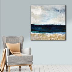 ArtWall Linda Woods's Beach VI, Gallery Wrapped Canvas | Overstock.com Shopping - The Best Deals on Gallery Wrapped Canvas