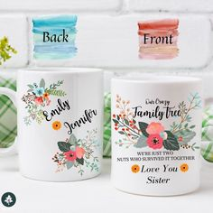 Valentines Day Gifts For Friends, Cute Gifts For Friends, Little Sister Gifts, Christmas Gifts For Sister, Birthday Gifts For Sister, Presents For Friends, Christmas Mugs, Valentine Gifts, Sister Sister