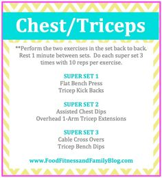 Chest and Triceps Workout via @FoodFitandFam