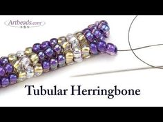 Artbeads Mini Tutorial - Tubular Herringbone Stitch with Leslie Rogalski