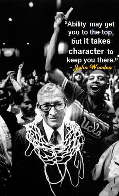 "The 50 Most Inspirational Sports Quotes in History. ""Never let what you can not do interfere with what you can do"" -John Wooden Great Sports Quotes, Sport Quotes, Great Quotes, Quotes To Live By, Me Quotes, Motivational Quotes, Inspirational Quotes, Famous Sports Quotes, Faith Quotes"