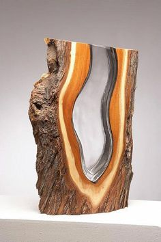 Wood & Glass Sculptures by Scott Slagerman – Ins. Wood & Glass Sculptures by Scott Slagerman – Inspiration Grid Wood Resin, Resin Art, Woodworking Techniques, Woodworking Tips, Resin Crafts, Wood Crafts, Diy Wood, Holz Wallpaper, Mesquite Wood