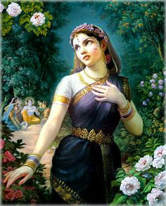 Srimati Radharani is the Supreme Goddess. She is most always seen with Lord Krishna.