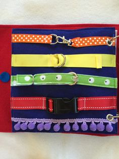 Quiet Book Page Buckle the Belts Single by RoseInBloomCreations