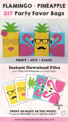 Printable Front Covers to decorate your Party Favor Bags/ Flamingo Party Ideas/ Flamingo theme party/ Pineapple theme party/ tropical theme party/ Summer Party theme/ Summer party ideas/ Pineapple DIY Party Bags/ Tropical theme baby shower/ Pineapple theme Birthday Party/ Pineapple Treat Bags/ Pineapple Party ideas/ Aloha Party ideas/ Hawaiian Party/ Tropical theme bachelorette Party/ Summer Party Ideas/ Party like a pineapple/ Tutti Frutti Party Ideas/ Flamingo Pineapple cake/ Bridal Shower
