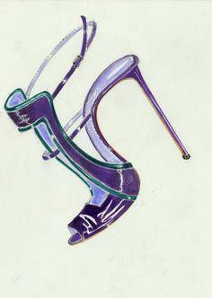 Purple shoe #illustration | ♦F&I♦