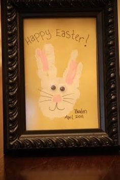 An Easter Bunny for Todays Quick and Easy Art Project! ~Pinned by www.FernSmithsClassroomIdeas.com