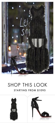 """""""Untitled #1751"""" by fashionwwonderland ❤ liked on Polyvore featuring Rasario and Christian Louboutin"""