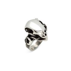 The perfect gift for the sci-fi buff in your life, The Weaver ring makes a statement and then some! This bold piece is sure to get people chatting at your next par-tay. Alien vs. Predator vs. Style!  Find it on Splendor Designs