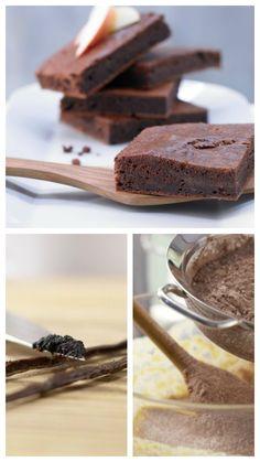 Supersaftig durch Apfelmus im Teig: Apfel-Brownies mit Vanille | http://eatsmarter.de/rezepte/apfel-brownies