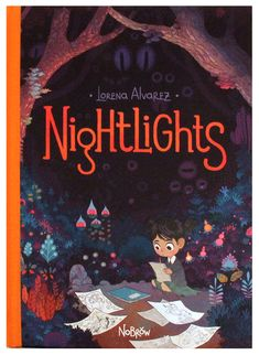 NIGHTLIGHTS by Lorena Alvares is a magnificently illustrated graphic novel that tells the story of Sandy, a creative girl with an enormous imagination who loves to draw. A new friend proves to be a sinister influence, getting into Sandy's imagination and getting her in trouble at school. Happily, Sandy finds a way to defeat her and regain her creativity.