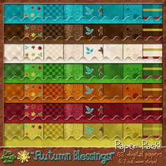 "63 digital papers for only .75 cents ""Autumn Blessings!"" paper pack"