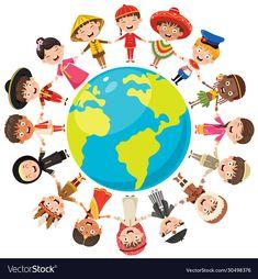 Different Races, Cute Cartoon Pictures, Backrounds, Happy Kids, Indiana, Illustration Art, Racing, Symbols, Children