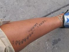 bike chain grease tattoo - I know the perfect person for this!