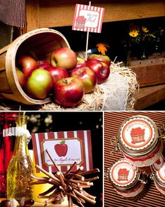 Engagement Party: Autumn Apple Colour Scheme, I can't get over how amazing this all looks but how simple it is at the same time.