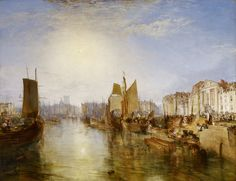 """""""The Harbor of Dieppe"""" Joseph Mallord William Turner One of my favs of all time. I can look at this for hours."""