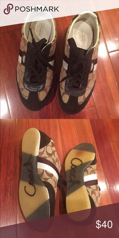 Coach Joss sneakers Like new. Size 7.5 but fits size 8. All angles of the shoes are pictured. In pristine condition. Suede on front and back. Coach Shoes Sneakers