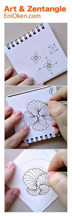 Learn how to create beautiful Zentangle®️ with showgirl and ribbons • enioken.com