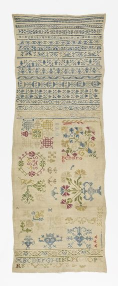 Fifteen cross borders in geometric and floral patterns and below, in a panel…