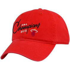 Miami Heat NBA Champs Hat -- Red