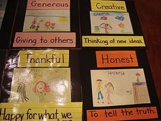 great idea for teaching virtues to little people
