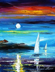 BLUE MOON 2 - LEONID AFREMOV by *Leonidafremov