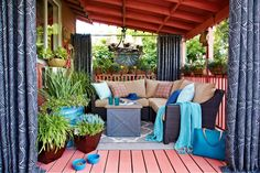 A deck completely overhauled for Hayneedle.com using 100% Hayneedle products by @Brian Patrick Flynn and team.