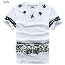Cuoka Brand Hip Hop Pyrex T-Shirt 09 Star Printed T shirt Men HBA Cashew 6778d0f59caae