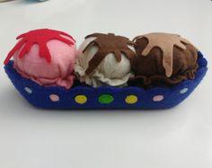 Felt ice cream sundae/ banana split by BrookeyBelle on Etsy https://www.etsy.com/listing/271249618/felt-ice-cream-sundae-banana-split