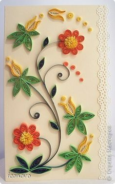 Beautiful card...I don't have the patience to quill, but this was just too pretty not to pin.