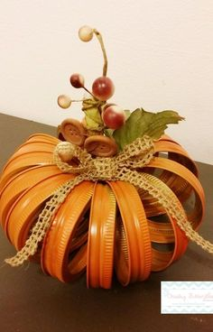 Mason Jar Lid Pumpkin Autumn Pumpkin Fall Decor