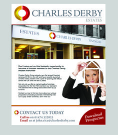 Charles Derby mailer designed by our very own Angels Media! Mailer Design, Derby, Digital Marketing, Finance, How To Become, Angels, Management, Product Launch, Social Media