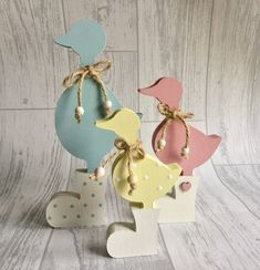 Dinosaur Easter Egg, Easter Crafts, Easter Decor, Easter Ideas, Wooden Reindeer, Chocolate Easter Bunny, Wooden Rainbow, Duck Egg Blue, Etsy Uk